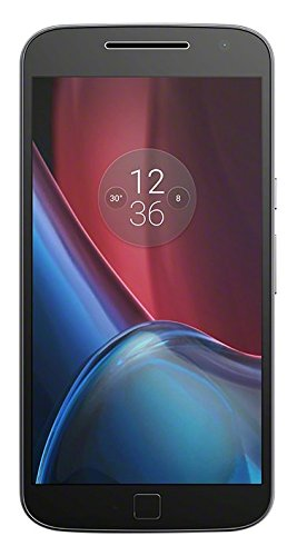 Motorola Moto G4 Plus Smartphone, Android 6, Display 5.5'' Full HD, 4G, Fotocamera 16 MP, 2 GB RAM, 16 GB Memoria interna, lettore di impronte digitali, Turbo Charger, Qualcomm Snapdragon 1.5 GHz, Nero [EU]