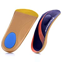 PCSsole 3/4 Length Comfort Orthotic Insoles for Flat Feet,Plantar Fasciitis, Bone Spur,Heel Pain,Arch Support for Men and Women-Walking