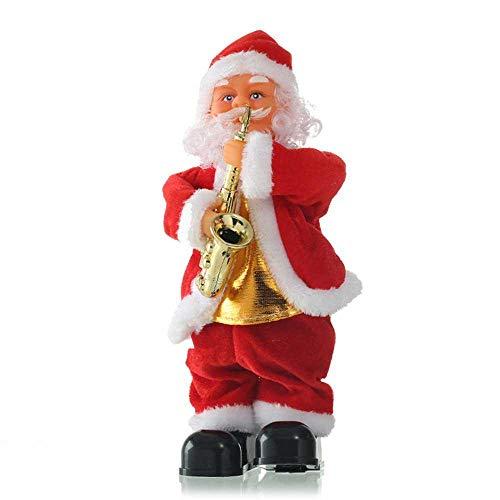 Foonee elettrico babbo natale bambola ornamenti, cute santa claus dancing singing musical peluche interattivo giocattoli, giocattoli di danza canto elettrico. 4