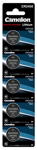 Camelion 13005450 Lithium Knopfzelle, CR2450, 5er-Pack