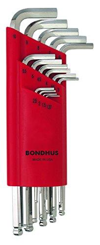 Bondhus 17095 Kugelkopf Winkelschlüssel Satz 15-teilig, extra lang - über Juego