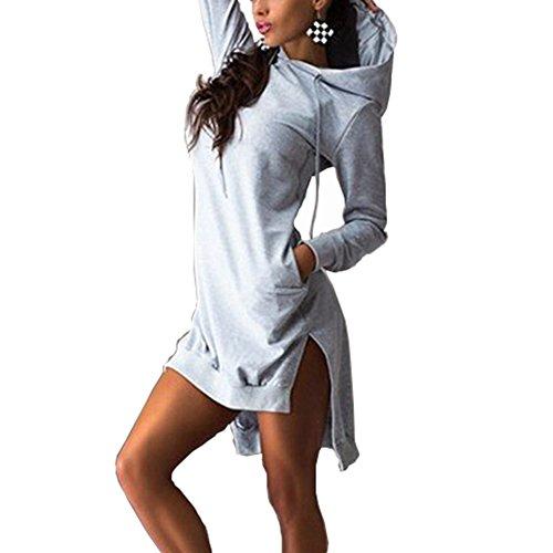 Bling Hoodie Sweatshirt (Bling Stars Damen Kapuzenpullover Gr. X-Large, grau)