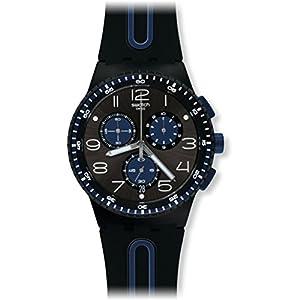 Swatch Reloj Digital de Cuarzo para Hombre con Correa de Silicona – SUSB406