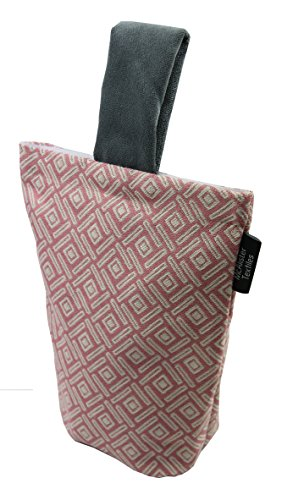 McAlister Textiles Copenhagen Kollektion | Elva Türstopper mit geometrischem Muster in Rosa | Deko textiler Türsack, Keil Geschenktasche (Tür-akzent)
