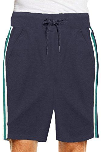 Herren Threadbare Longley Designer gestreift Trikot Shorts Shorts - Marineblau