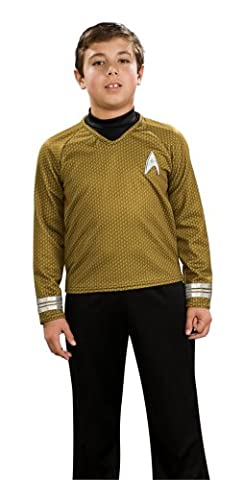 Rubie's Costume Co Star Trek Movie Child's Deluxe Shirt Costume With Dickie Pants With Attached Boot Tops And Emblem Pin