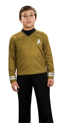 Rubie's Costume Co Star Trek Movie Child's Deluxe Shirt Costume With Dickie Pants With Attached Boot Tops And Emblem (Kinder Kostüme Für Nba)