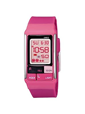 Casio LDF-52-4AEF - Reloj digital de cuarzo para mujer con correa de resina, color rosa