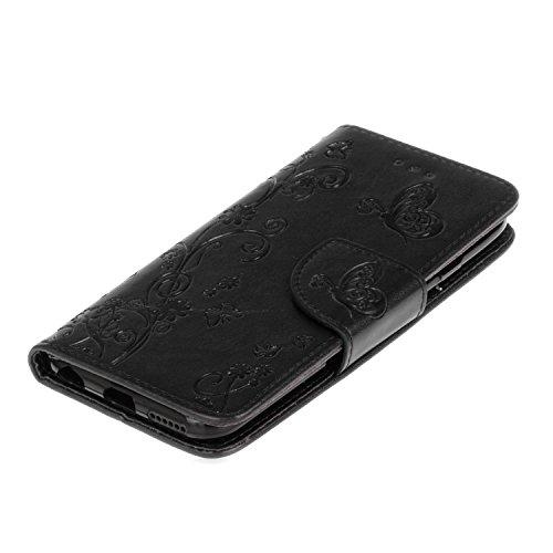 iPhone 6S Plus Hülle,iPhone 6 Plus Hülle,iPhone 6S Plus / 6 Plus Hülle (5,5 Zoll),iPhone 6S Plus / 6 Plus Lederhülle Handyhülle,ikasus® Handyhülle iPhone 6S Plus / 6 Plus Ledercase Tasche Hüllen Brief Schwarz