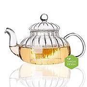b00ceb8793d0a hwagui- Classic Flower Tea Gift set teiera di vetro con infusore sampler  teiera di tè nero Pumpkin Tea Pot