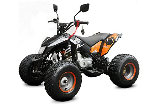 AUFGEBAUT Mini Quad Maddix 49cc Bike ATV EEC mit Straßenzulassung (Weiss)