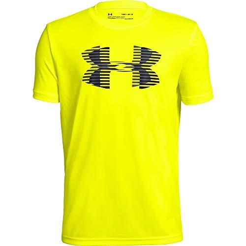 Solid V-neck Tee (Under Armour Jungen Tech Big Logo Solid Tee Kurzarmshirt, Gelb, YSM)