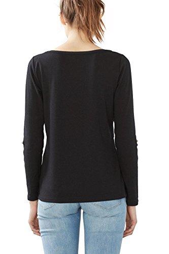 edc by Esprit 027cc1k003, T-Shirt Femme Noir (Black)