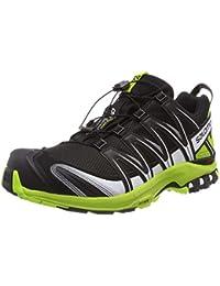 Salomon Herren XA Pro 3D GTX, Trailrunning-Schuhe, Wasserdicht, Schwarz (Black/Lime Green/White), Größe 42
