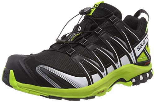 Salomon XA PRO 3D GTX, Scarpe da Trail Running Uomo, Nero (Black/Lime Green/White), 42 2/3 EU