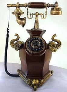 telephone fixe filaire antique design retro reproduction bois