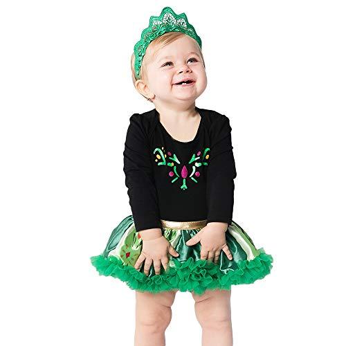 Huihong Baby Mädchen Tutu Kleid + Stirnbänder Schneeflocke Druck Kleidung Set Weihnachten Kostüm Fotografie Requisiten Outfits (Schwarz, 0-3 Monate/59)