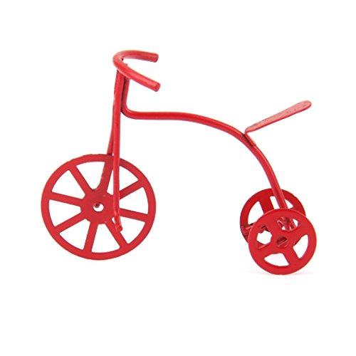 MagiDeal Vélo Tricycle en Métal Rouge Miniature pour Maison de Poupée 1/12 0053722857070