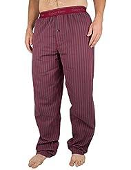 Calvin Klein Hombre Striped Logo Pyjama Bottoms, Gris
