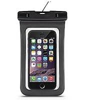 westeng Universal funda impermeable seco bolso de la bolsa bajo el agua para iPhone 6/6Plus/6S/5S/Android Teléfono Móvil ecológico polvo prueba Touch Responsive Funda, negro