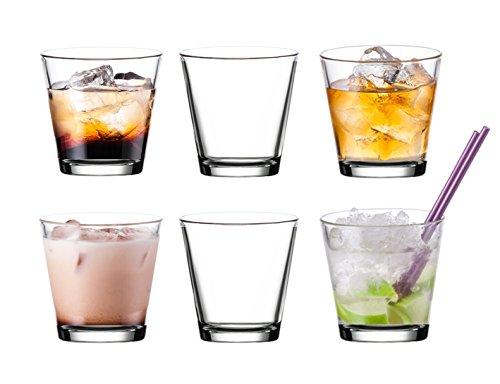 Pasabahce 52516 - 6er Glas-Set für Cocktails Säfte Wasser Whisky Gläser Set, ~250 ml - 6 Stück -