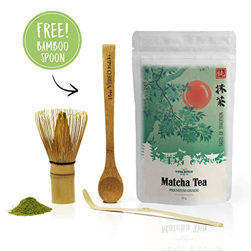 El té verde Matcha - Green tea Matcha powder 100g Premium Ceremonial