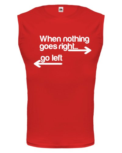 buXsbaum® Tank Top When nothing goes right... go left Red-White