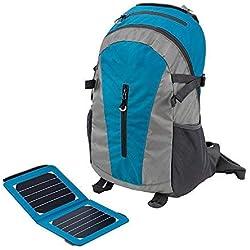 AXJa Cadre extérieur Sac à dos avec chargeur solaire et batterie de 6,5 watts pour Iphone Ipad Ipod Android Smart Phones parfaits pour la randonnée en camping Trekking Pêche d'urgence et de sports en