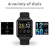 AXELEL AXELEL Smart Wrist Loop Fitness Tracker Monitore Ihre Herzfrequenz, Blut-Sauerstoff und Schlaf mit Kalorie, Schritt und Distanz zu tun   Wasserdichter Sync mit Smartphone