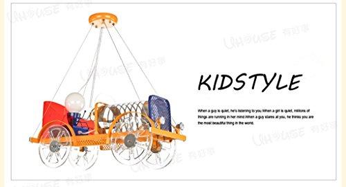 Kreative Cartoon Auto LED-Kronleuchter Bekleidungsgesch?ft Leuchten sch?nes Baby-Schlafzimmer der raum des jungen M?dchens - 2