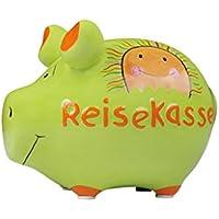KCG Spardose Schwein Reisekasse Keramik klein