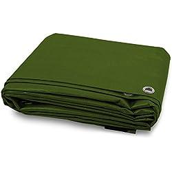 ETM® - Lona impermeable con ojales, protección exterior, resistente al agua y a los rayos UV, densidad 90g/m², disponible en varios tamaños y colores, verde