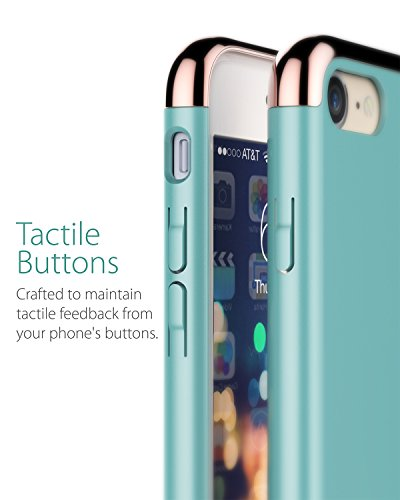 "iPhone 8 / 7 Hülle, Vena [Mirage][Chrom] Dock-Freundlich Slim-Fit Schutz Hart Case Cover für Apple iPhone 8 / 7 (4,7"") - Blau / Rosengold Aquamarin / Rosengold"