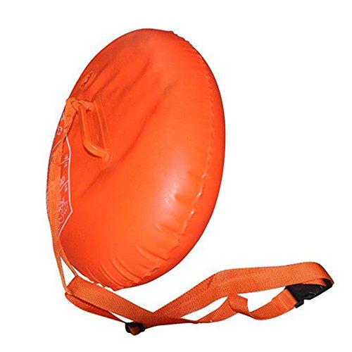 Hongfei Wasserausrüstung Schwimmen Airbag Sicherheit Boje Erwachsenen PVC Verdickungs-Doppelairbags Aufbewahrung von persönlichen Gegenständen Gut sichtbare Boje Float Positionierungsausrüstung
