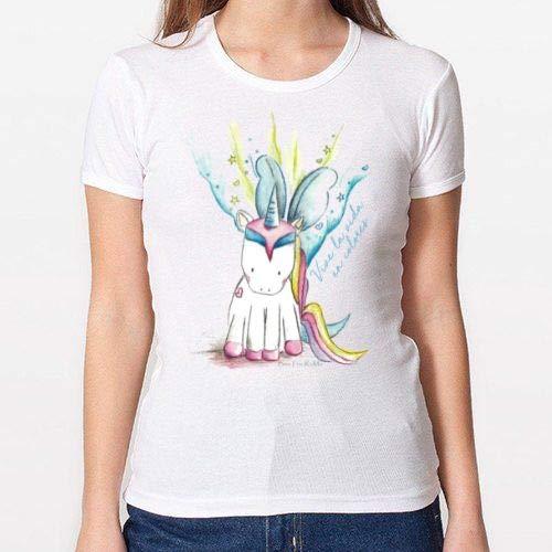 Positivos Camisetas Mujer/Chica - diseño Original Camiseta Unicornio - XL