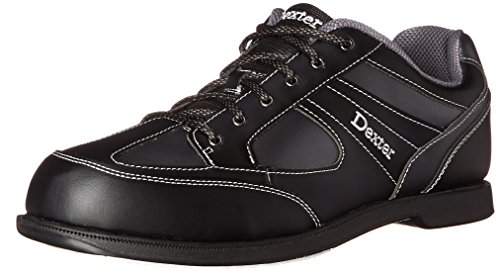 Herren Bowlingschuhe Dexter Pro Am II black grey Alloy, Semi Profi, rechtshand schwarz Black/Grey Alloy US 7.5, UK 6