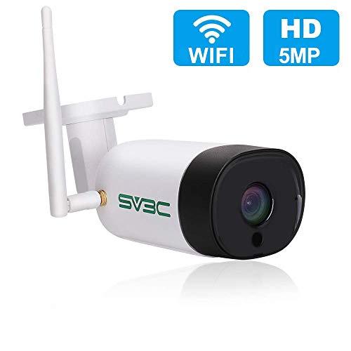 SV3C WLAN IP Überwachungskamera Aussen,5MP Wireless IP Kamera,64G SD Karten,Zwei-Wege-Audio,Bewegungserkennung,20M Nachtsichtfunktion, Kompatibel mit IOS/Android/Windows PC