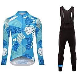 Sports Wear Uglyfrog Maillot ciclos térmicos mangas velo longo inverno com Shorts para as Mulheres Define Ciclismo Vestuário, bicicleta Roupa Roupa térmica forro de lã quente (duas partes)