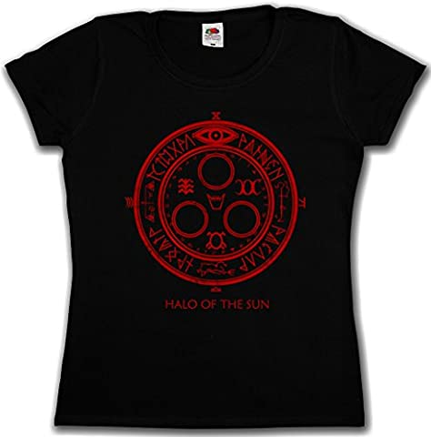 HALO OF THE SUN LOGO WOMAN GIRLIE FEMME SHIRT - Silent Horror Movie Hill Game Satanic Circle 666 Tailles S - 5XL