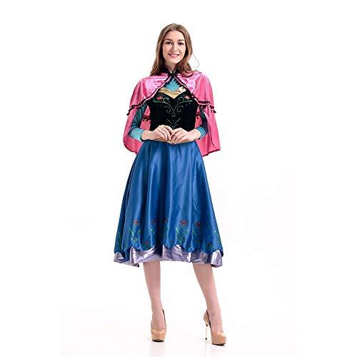 Edelehu Prinzessin Kleid Halloween Cosplay Kostüm Tunika Kapuzen Robe Kapuzenumhang Umhang Mittelalterliche Kapuze Urlaub Partei Ausrüstung Erwachsene,XL (Erwachsenen Mittelalterliche Prinzessin Kostüme)