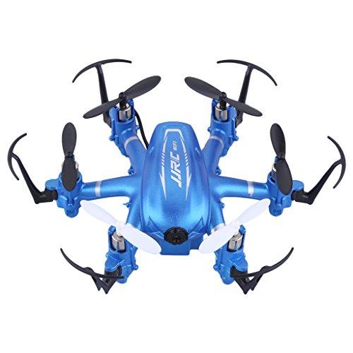 Preisvergleich Produktbild JJRC H20W WIFI FPV Real-time 2.0MP HD Kamera RC Quadrocopter Drone 2.4GHz 4 Channel 6 Axis Gyro RC Hexacopter Blau + 1 Satz von Free Props