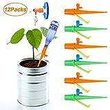 Homealexa Automatisch Bewässerung Set [Verbesserte Version], 12 Stück Einstellbar Bewässerungssystem Garten zur Pflanzen Blumen Zimmerpflanze Bewässerung, Ideal Wasserversorgung Während Ihrem Urlaub