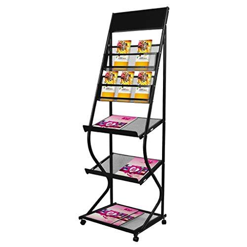 YS- A4 Messestand, 5-Fachboden-Display Zeitschriftenhalter Broschüre Prospekt Organizer Katalog Referenz Lagerregale - Chrom Manuelle Auswahl