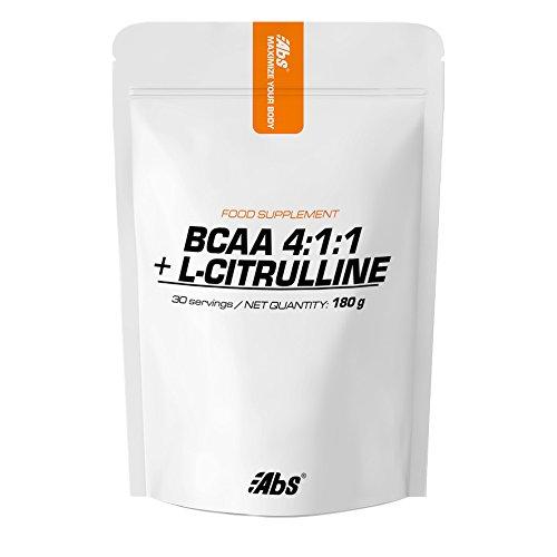 Abs - BCAA 4:1:1: + L-CITRULLINE | Formule innovatrice pour booster les performances sportives | 30 portions / poudre 180 g | Fabriqué en FRANCE | Qualité certifiée par certificat d'analyse