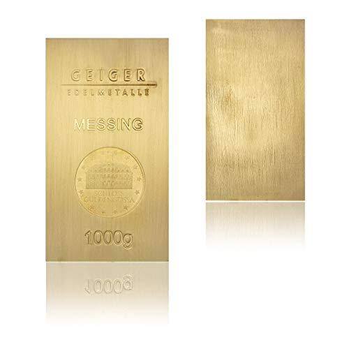Geiger-Edelmetalle Messingbarrren Industry Line Schloss Güldengossa - 1 kg - Made in Germany -