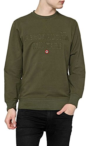 Aeronautica Militare Herren Pullover Sweatshirt Circuitously NECK, Farbe: Armeegruen, Größe: XL