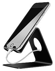 Lamicall Handy Ständer, Handy Halterung : Handyhalterung, Halter für Phone 11 Pro, Xs Max, Xs, XR, X, 8, 7, 6 Plus, SE, 5, Samsung S10 S9 S8 S7 S6, Huawei, Schreibtisch, andere Smartphone - Schwarz