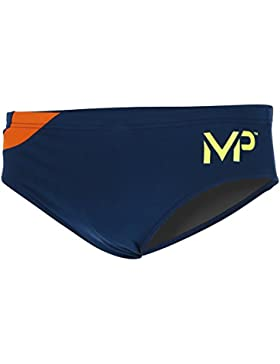 MP Michael Phelps Comp del Hombres Sólido Jammer, Hombre, Comp, Navy Blue/Orange, 24