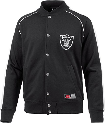 Majestic Herren Fleece Letterman Jacket, Black, XL (American Soccer League)