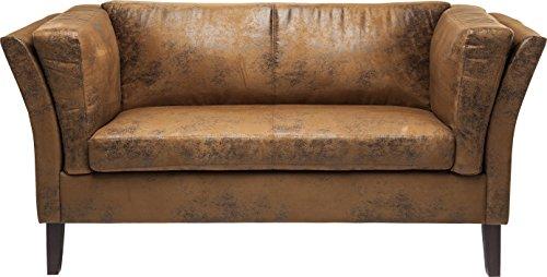 Kare Canapee 2-Sitzer Vintage Econo, 77566, moderne 2er Lounge Couch im Vintage-Design, Kunstleder,...